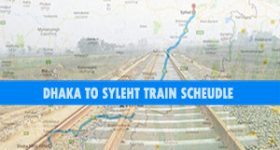 Dhaka to Sylhet Train route