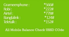 All Mobile Balance Check USSD Codes
