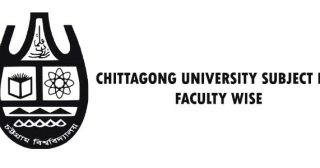 Chittagong University Subject List Faculty Wise