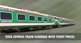 Tista Express Train Schedule with Ticket prices 1