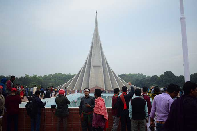 People Gather in National Monumnet Savar on Victory Day