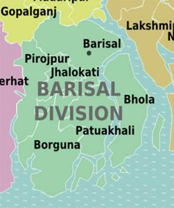 Barisal Divisions Districts in Map