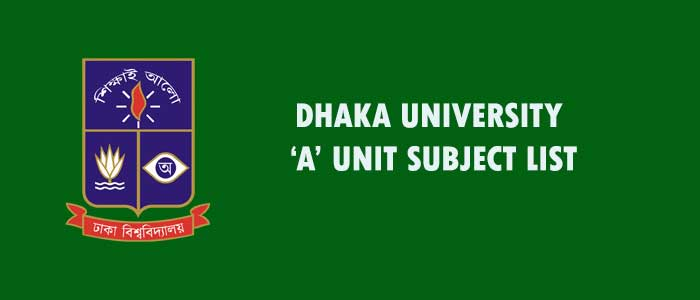 DU A Unit Subjects