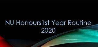 NU Honours 1st year routine 2020