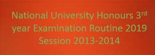 NU Honours 3rd Year Routine