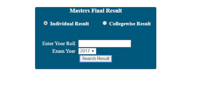 Masters Final Year Individual Results