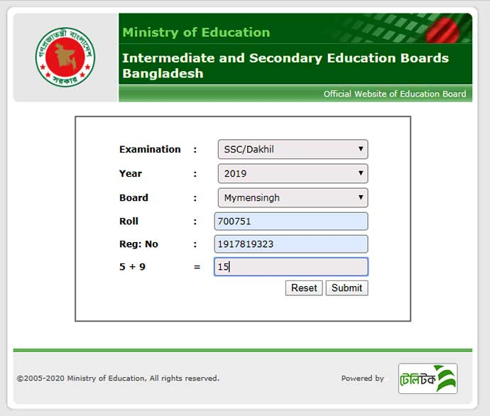 Result Checking of Mymensingh Board SSC