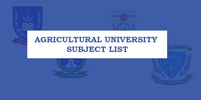Agricultural University Subject List