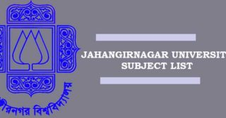 Jahangirnagar University Subject List