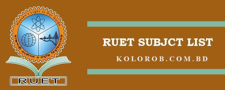 RUET Subject List